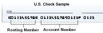 U.S. Check Sample